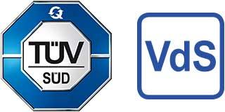 TÜV-Logo, VdS-Logo
