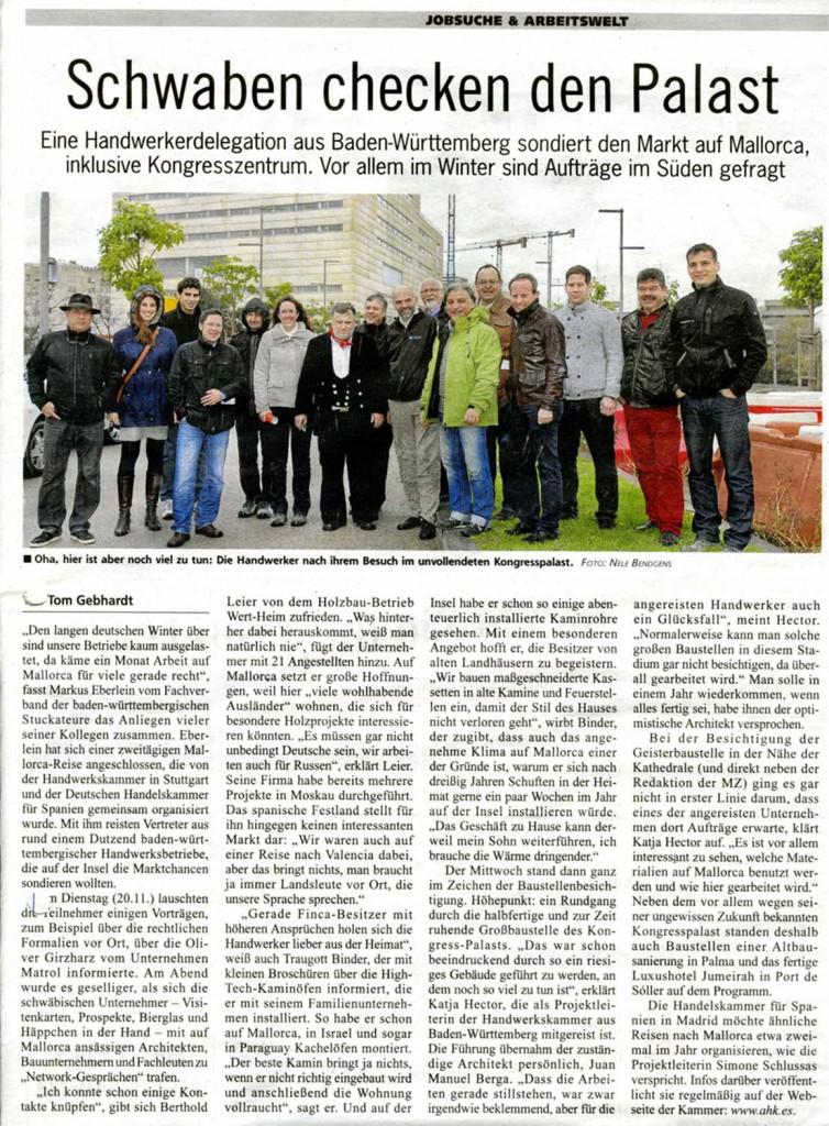 Zeitungsartikel Mallorca